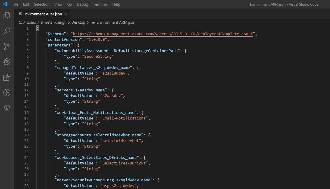 VS Code example