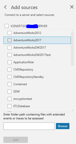Select the database to access