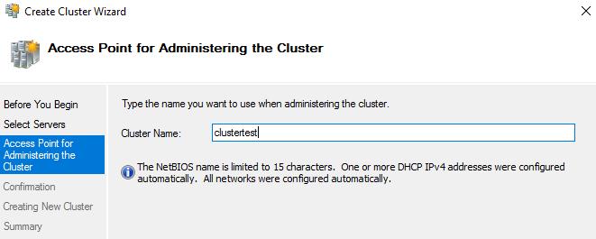 Adding Cluster name