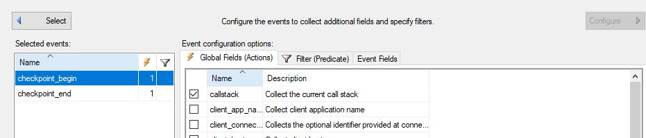Choosing callstack Global fields