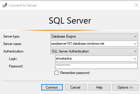 SQL Authentication