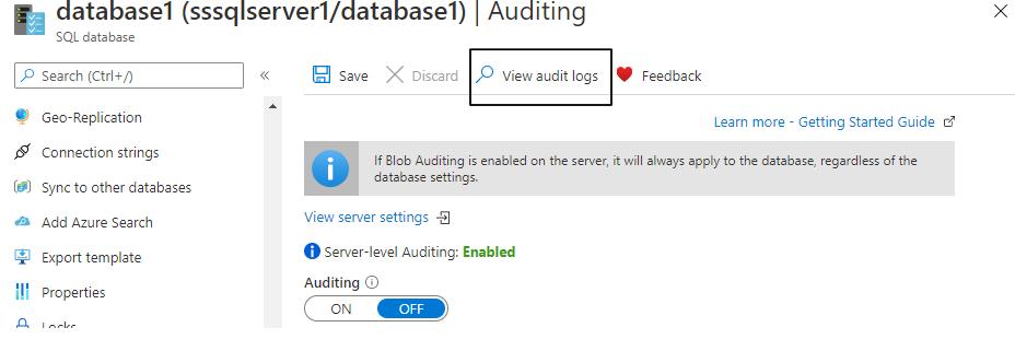 View Audit logs