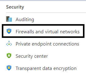Firewall and Virtual Network