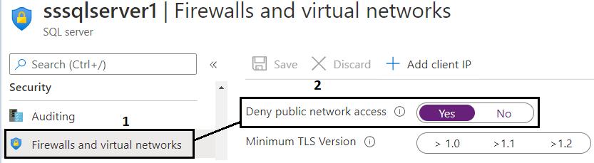 Deny public network