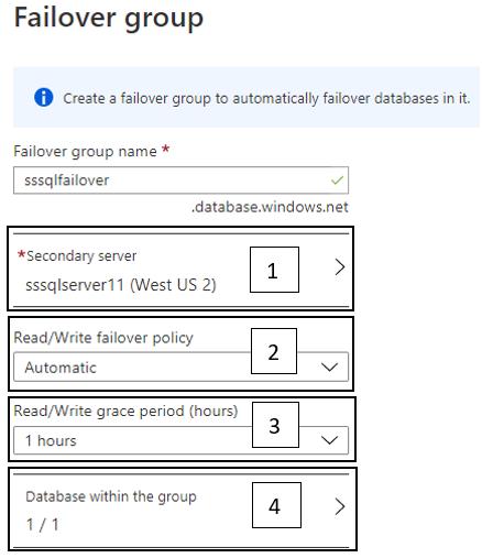 Creating a Failover Group